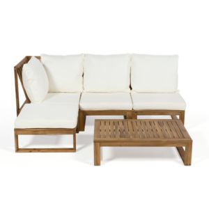 house bay canap d 39 angle de jardin 4 places table. Black Bedroom Furniture Sets. Home Design Ideas