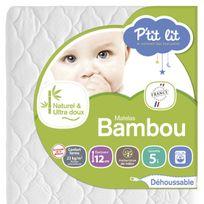 P'TIT Lit - Matelas bébé Bambou 60 x 120 60 x 120 - Déhoussable