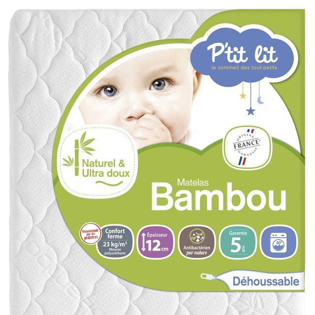 P'TIT Lit Matelas bébé Bambou 70 x 140 70 x 140 - Déhoussable