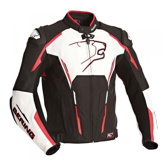 614b06dc785 Bering - Blouson Storm-r Noir Blanc Rouge - pas cher Achat   Vente ...
