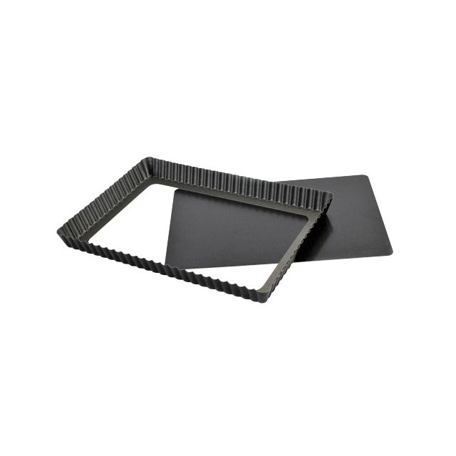 Guery Moule à tarte rectangle anti-adhésif 35 x 11 cm