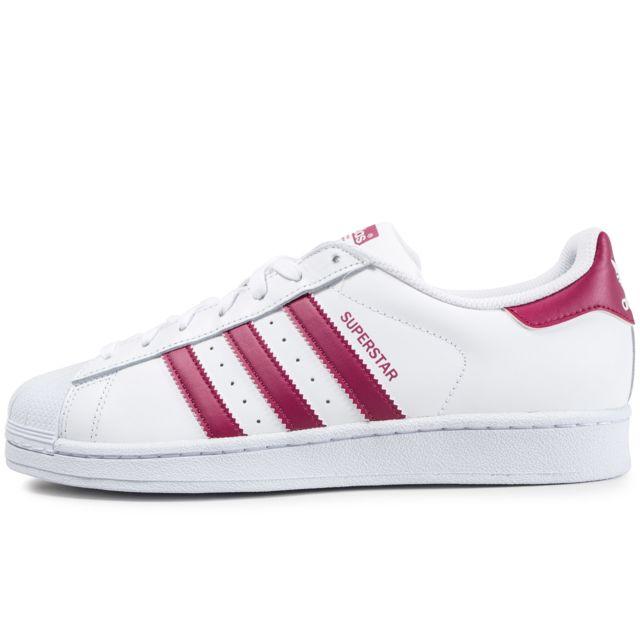 Adidas originals - Superstar Blanc Et Mauve 46 - pas cher Achat / Vente Baskets homme - RueDuCommerce