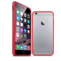 Caseink - Coque Housse Etui Bumper Bimatière pour iPhone 6 Plus 5.5, Uni Rouge, protecteur Ultra Clear Hd
