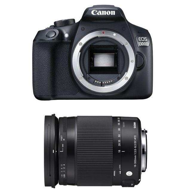 Canon Eos 1300D + Sigma 18-300mm F3.5-6.3 Os Contemporary Garanti 3 ans