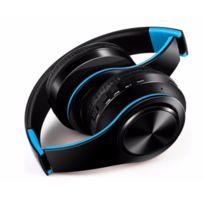 Oem - Casque Sans Fil Pliable pour Sony Xperia M4 Aqua Smartphone Bluetooth Boutons Reglable Son Universel BLEU