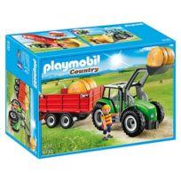 Playmobil - 6130-Tracteur avec pelle et remorque - Country
