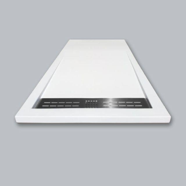 evidence receveur de douche en r sine 90x160 blanc soul. Black Bedroom Furniture Sets. Home Design Ideas