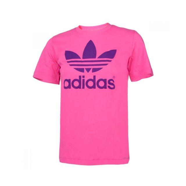 adc81249d2b1b Adidas originals - Tee-shirt Adidas Original Trefoil Cadet - X31920.  Couleur : Rose