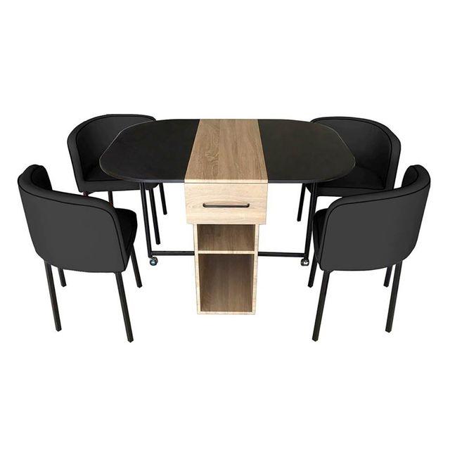 Altobuy Dylunio - Ensemble Table + 4 Chaises