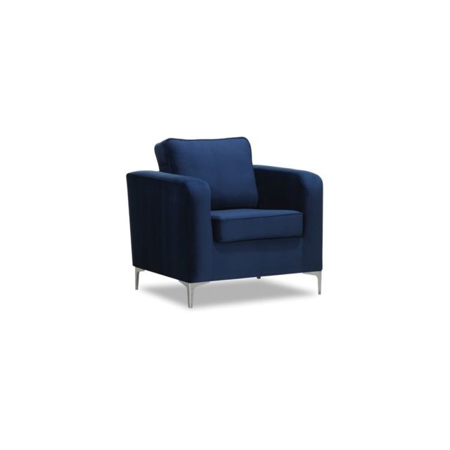 miliboo fauteuil design velours bleu nuit harry saintsavinsportif. Black Bedroom Furniture Sets. Home Design Ideas