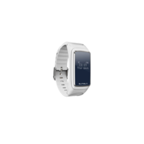 Auto-hightech - Oreillette avec écran 0.66 pouce, Bluetooth et bracelet - Blanc