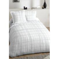 Comptoir Des Tisseurs - Parure de lit blanche 100% coton 240x220 cm