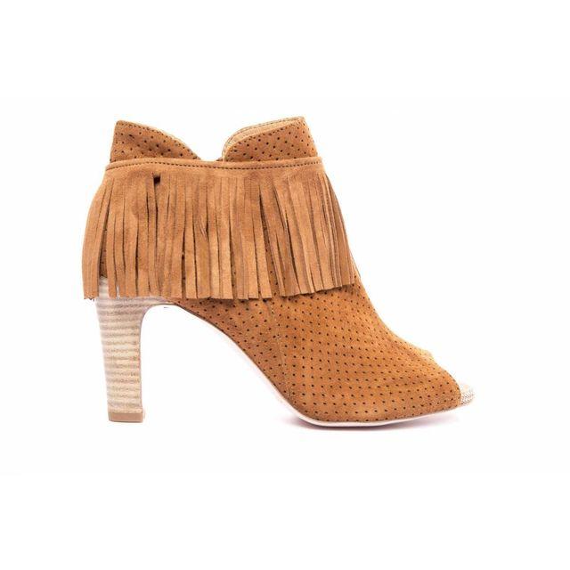 rose metal sandales talon cognac 36 pas cher achat vente sandales et tongs femme. Black Bedroom Furniture Sets. Home Design Ideas