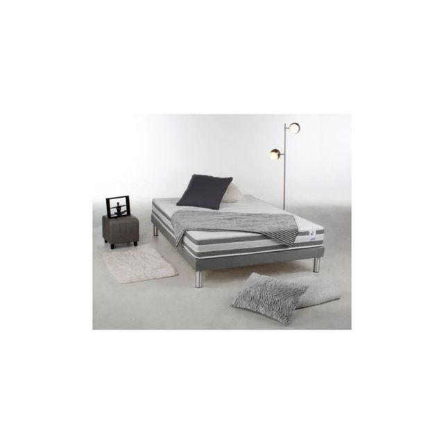 Confort Design Matelas 140 X 190 - Latex, Et Mousse Memoire - 24 Cm - Equilibre Et Ferme - Recto Verso