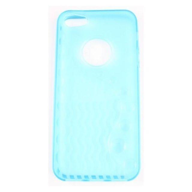 coque iphone 5 bleu ciel sline silicone