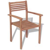 Chaises de jardin Teck - Achat Chaises de jardin Teck pas cher - Rue ...