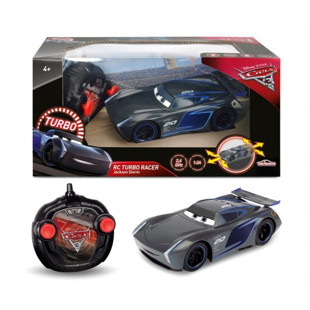 smoby disney cars 3 voiture rc jackson storm 213084005 pas cher achat vente voitures. Black Bedroom Furniture Sets. Home Design Ideas