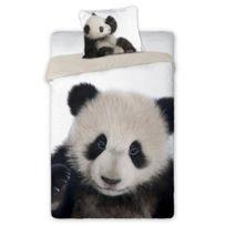 Home - Panda Ours - Parure de Lit Animaux - Housse de Couette Coton
