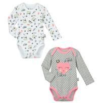 Petit Beguin - Lot de 2 bodies bébé fille manches longues Mini Girl -  Taille - a4d6f024b58
