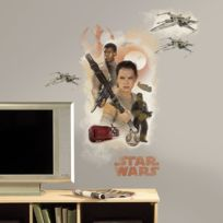 Mon Beau Tapis - Stickers Star Wars Ep Vii Hero Burst Géant Roommates Repositionnables 75x82cm