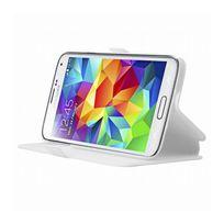 Mocca - étui folio blanc avec support pour Samsung Galaxy S5 G900