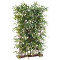 Artificielflower - Haie artificielle Bambou New Uv résistant - extérieur balcon terrasse - H. 150cm socle 95cm - taille : 150 cm