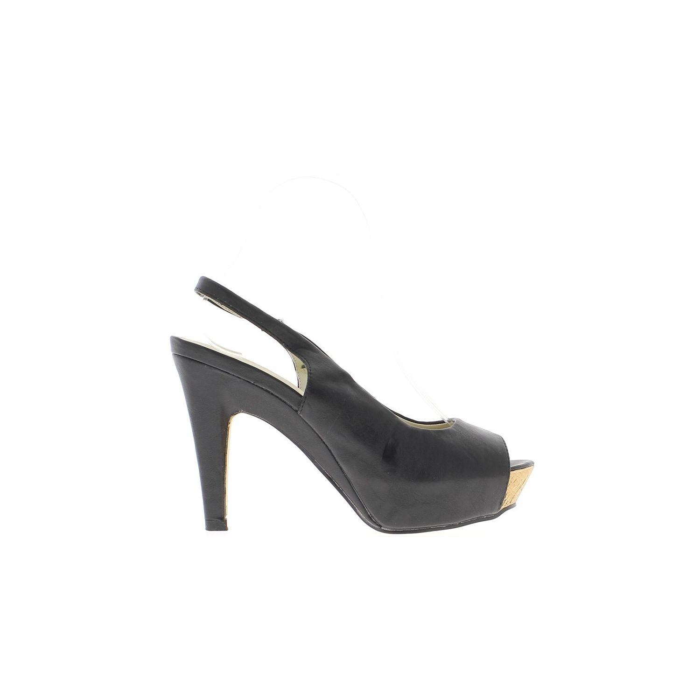 db5c91d0f52ec CHAUSSMOI- Sandales femme noires talon de 10 cm