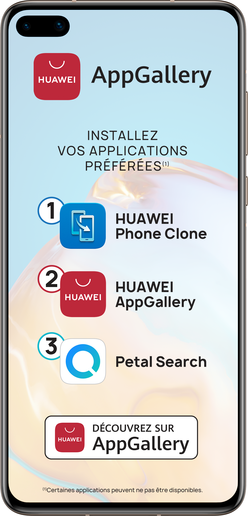 Smartphone P40 128 Go 5G Huawei Rose Doré