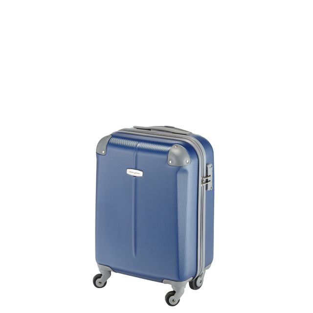 valise carrefour 4 roues CARREFOUR - Valise ABS 4 roues - 53 cm - Marine