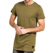 Sixth June - Tshirt uni homme kaki long