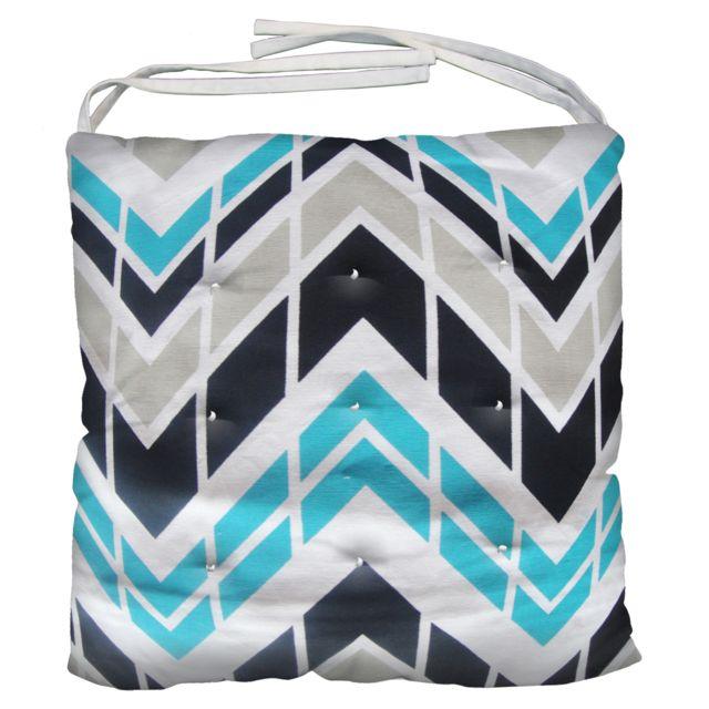 galette de si ge coton zigzag 40x40x5 cm nc pas cher achat vente coussins galettes de. Black Bedroom Furniture Sets. Home Design Ideas