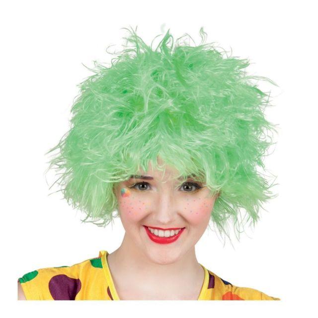 Perruque verte ébouriffée de clown Vert -