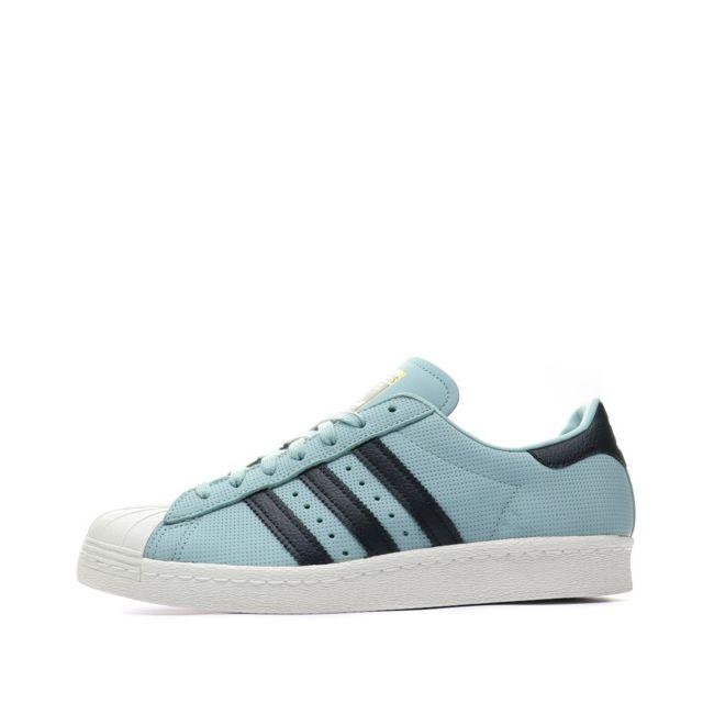 Adidas Superstar 80s Chaussures Bleu Homme Multicouleur 43