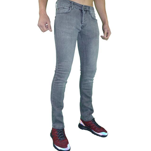 45e7ef9ad7c Armani - En Solde - Emporio - Jean - Homme - Ea Denim 01 Slim Fit - Gris  Délavé - pas cher Achat   Vente Jeans homme - RueDuCommerce
