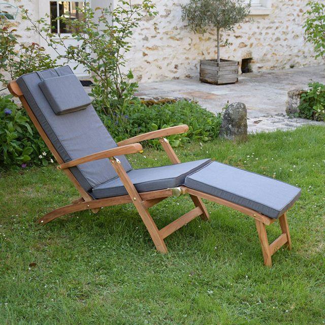 teck 39 attitude matelas gris pour chaise longue pas cher achat vente coussins galettes de. Black Bedroom Furniture Sets. Home Design Ideas