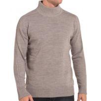 BLZ Jeans - Pull gris cotelé col montant