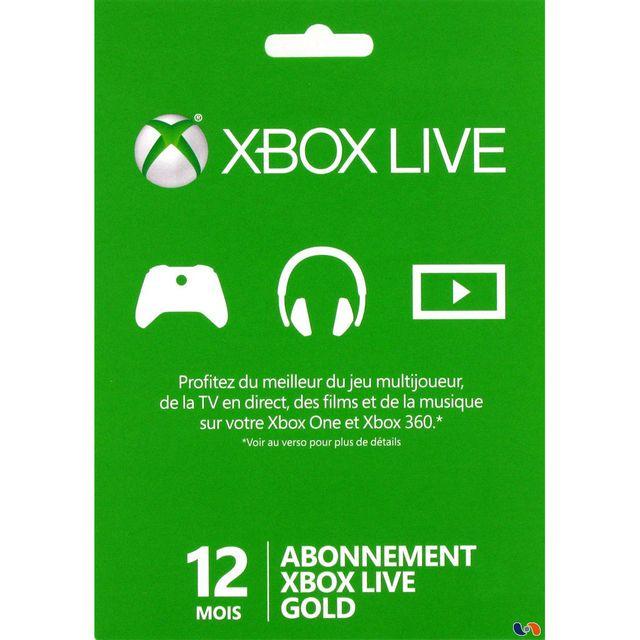 Console Xbox 360 Carrefour: XONE CARTE LIVE 12 MOIS GOLD