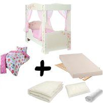 Merveilleux Bebe Gavroche   Pack Complet Lit Fille Princesse à Baldaquin U003d Lit+Matelas  U0026 Parure