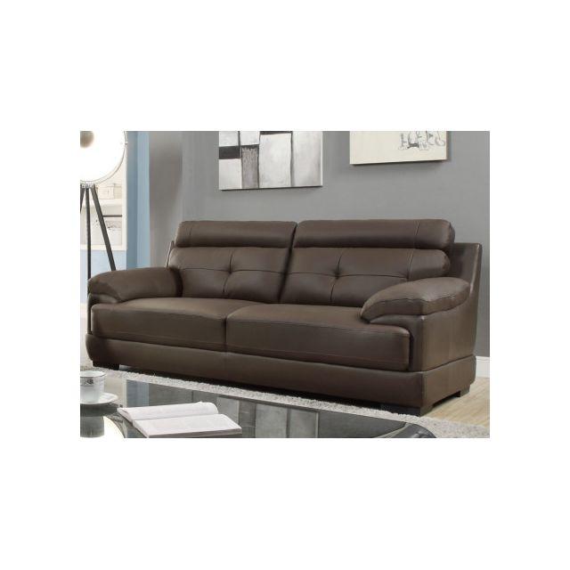 marque generique canap 3 places en cuir de buffle. Black Bedroom Furniture Sets. Home Design Ideas
