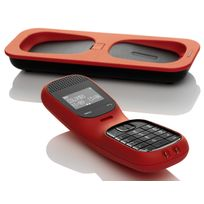 Telefunken - Colombo Td101 Rouge - Téléphone sans fil Dect afficheur alphanumérique Rouge