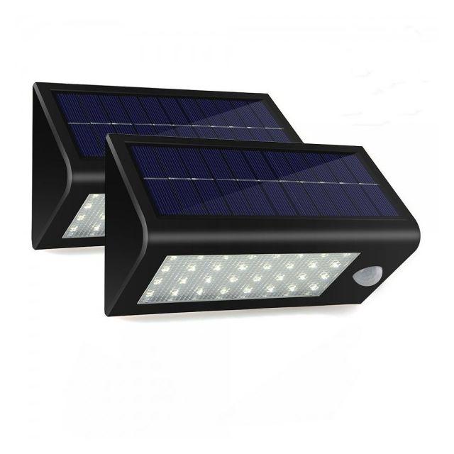 eclairage jardin led solaire Alpexe - Eclairage du0027Exterieur Lampe Solaire Etanche en 400 Lumens 32 Led  Solaire Pir
