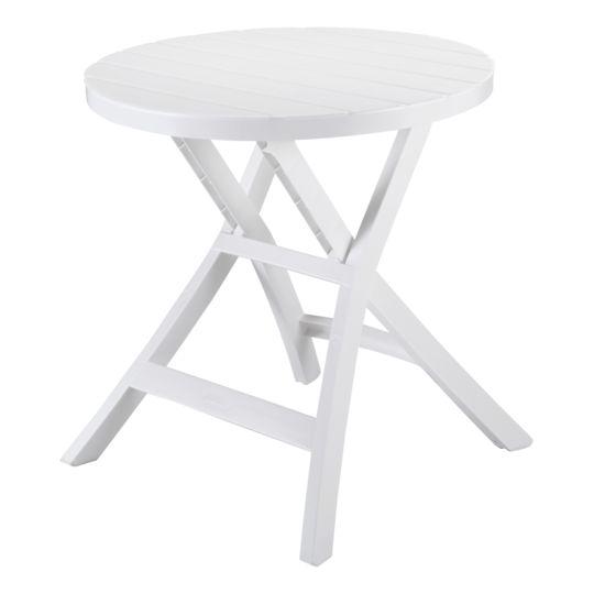 ALLIBERT Table pliante Oregon - blanche pas cher au Meilleur Prix