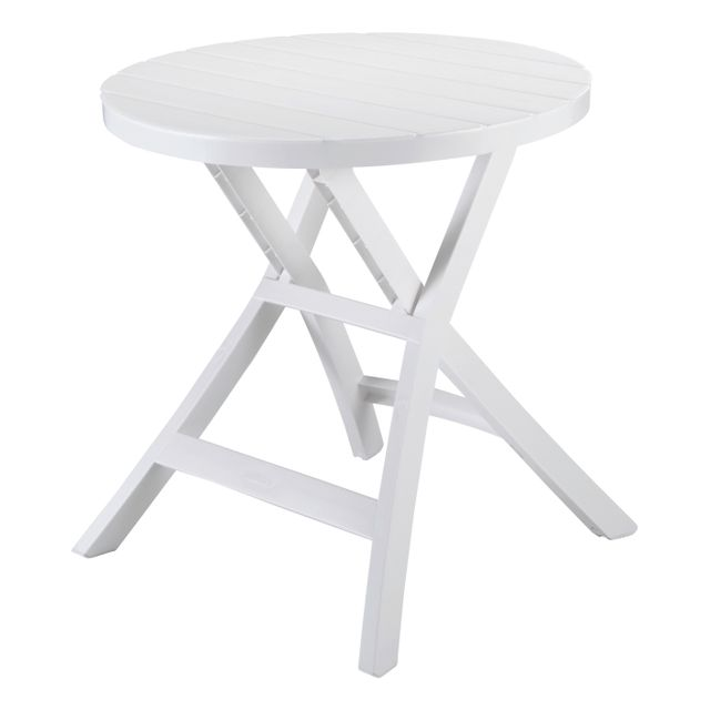 ALLIBERT - Table pliante Oregon - blanche - pas cher Achat / Vente ...