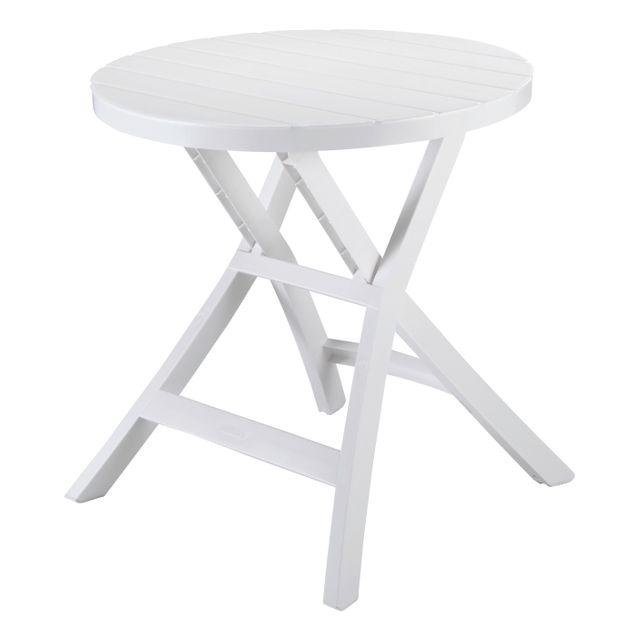 allibert table pliante oregon blanche pas cher achat vente tables de jardin rueducommerce. Black Bedroom Furniture Sets. Home Design Ideas