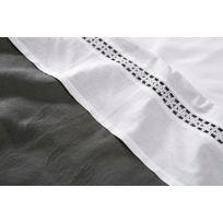 Jollein Little Naturals - Little Naturals Drap 120 X 150 Cm Organic Flower Lace Blanc