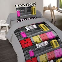 housse couette london 1 personne achat housse couette london 1 personne pas cher rue du commerce. Black Bedroom Furniture Sets. Home Design Ideas