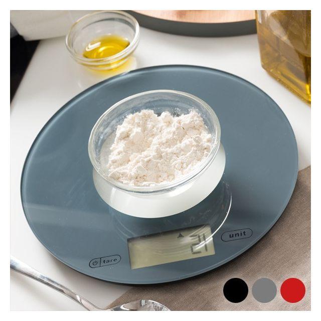 Totalcadeau Balance de cuisine digitale ronde - Pèse ingrédients Couleur - Rouge