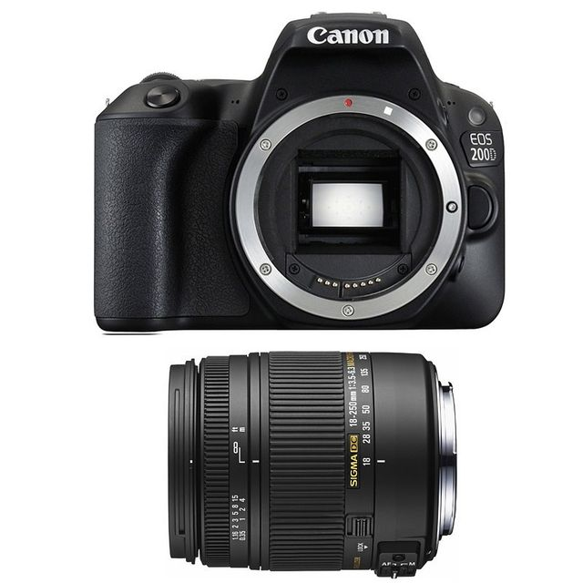 Canon Eos 200D + Sigma 18-250mm F3.5-6.3 Dc Macro Os Garanti 3 ans