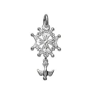Sochicbijoux - So Chic Bijoux © Pendentif Croix Huguenote Colombe Malte  Argent 925 0383f6b9040