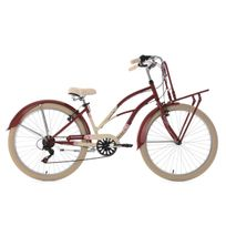 KS CYCLING - Beachcruiser Cargo 26'' Kahuna rouge-beige TC 41 cm
